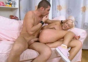 Rough anal sex with blond whore