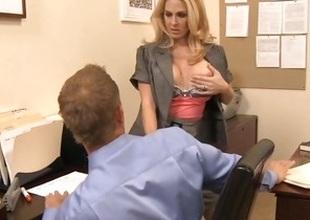 MILF boss seduces employee