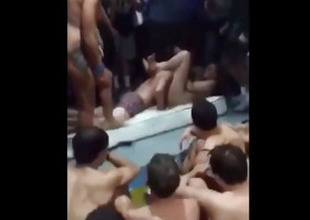 Crazy Students Strive Sex On A Pool Party