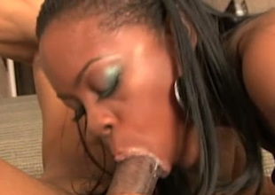 Wondrous sweetened naughty whore gives terrific BJ look into cunnilingus