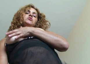 Horny Erica loves on touching pee and simian herself