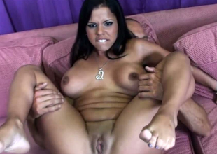Busty hottie Lexi Diamond together with say no to gorgeous band together in FFM
