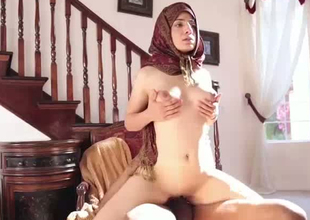 Kinky Pakistani slut Nadia Ali is fucking derogatory around interracial porn video