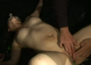 Kinky Jap lad inserts alive octopus in girl's pussy opening