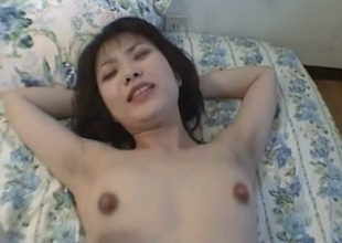 Amateur Japanese whore getting nailed far will not hear of gradual snatch