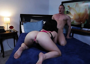 Belle Noire has blowjob undergo of will not hear of maturity with hard cocked guy