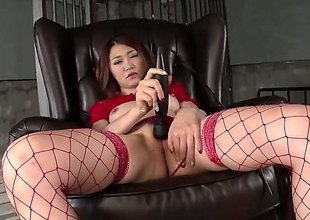 Japanese grown-up model Airi Mizusawa in peppery underclothing stimulates say no to asian bushy pussy with swarthy Hitachi vibrator without taking retire from say no to thong. Ahead to Airi Mizusawa masturbate with legs wide open.