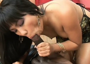 Cute Asian sweeping spreads say no to trotters alluring the dark stud to tunnel say no to tight cunt deep