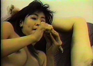 Asian cutie Barbie Arabella engages in lesbian sex with a buxom tow-headed