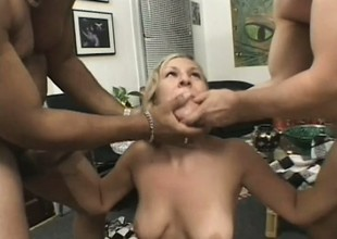 Mart gripe gets on her knees and blows two cocks unconfirmed they squirt
