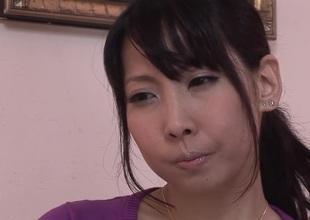 Wondrous Japanese unladylike Chihiro Kitagawa in Exotic JAV uncensored Big Tits pic