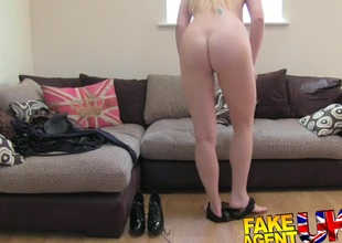 FakeAgentUK Tall blonde MILF crave hard cock regarding casting