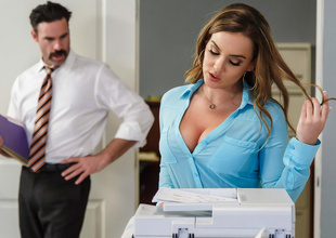 Natasha Nice & Charles Dera regarding Office Initiation - Brazzers