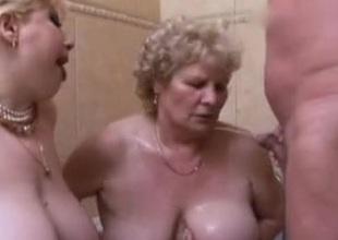 3 Venerable Fat Grannies Gangbang