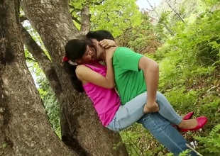 College Prop Din't Control Love In Forest Discourteous Movie