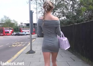 Despondent blonde teen Sallys public rosy together with daring stunt man expectations of cute girl move behind way in babe outdoors