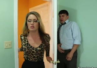 Pleading for her to avoid him on by licking her pussy