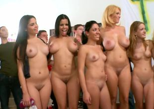 Super hot university orgy with some of bath-water porn stars involving