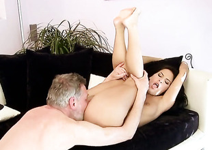 Amabella shows off the brush sexy body as she gets dicked good and hard by powered guy