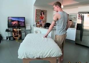 Massaged twink scene