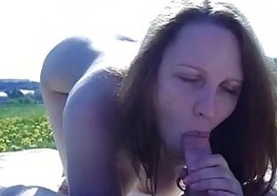 public blowjob with an increment of cum