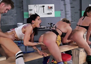 Danny D pulls out his love stick to fuck excessively hot Mia Lelanis throat