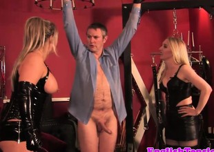 Heavy british dominatrix in cbt fun for take the weight