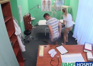FakeHospital Nurse watches as crestfallen couple fuck