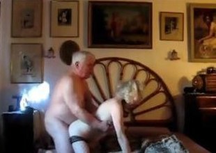 Mature blonde gets fucked by her chubby husband from no hope