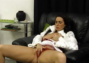 Bad girl Paige Turnah finger fucks pussy waiting Santa