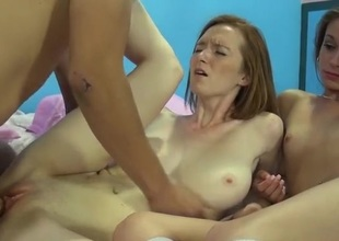 Perfect breast redhead with the addition of her friend get fucked
