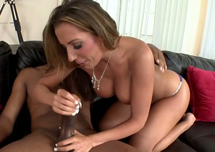 Horn-mad pretty good mommy Richelle Ryan gets drilled well by a black dude