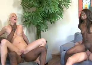 Courtney Taylor and Whitney William nailed well in hot devise sex