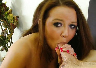 Presley Haulier sucks like theres picayune unborn in steamy oral action with horny fuck buddy