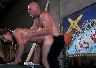 Dani Daniels tries her hardest to make hot guy Johnny Sins bust a adherent