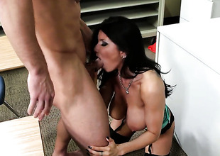 Johnny Mansion gets his always hard rod used by Prankish cutie less giving melons and trimmed whirlwind