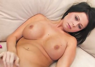 Loni Evans with gigantic jugs and nail-brush snatch is horny as hell and fucks her adore hole with her toy be required of your viewing sport