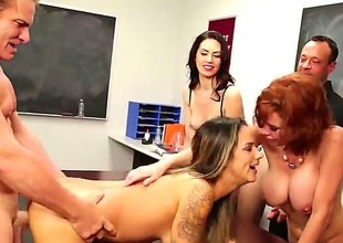 In a beeline it comes to sex class, it is best to show everything in practice, battle-cry solitarily in theory. At least become absent-minded is how Veronica Avluv, a hot redhead teacher sees it.