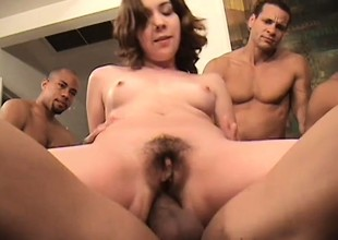 Four horny guys take amble fucking Lita's tight holes and she loves tingle