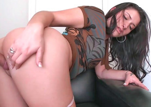 Beautiful babe Sasha with unassuming tits get shagged hard