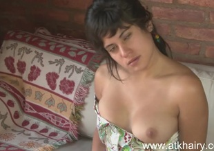 Hairy pussy youthful Cecilia masturbates for ages c in depth you watch