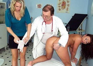 Two hot czech girls visit strange gyno doctor
