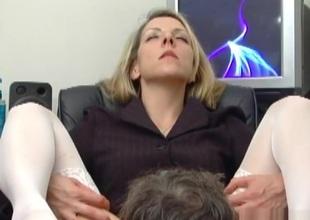 Wondrous pornstar Marie Madison thither hottest blowjob, blonde porn span