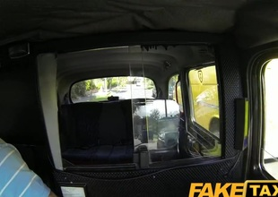 FakeTaxi: Youthful gal with broad milk shakes suggests oral job instead of money
