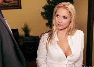 Big Tits at Work: Secretary Turn on
