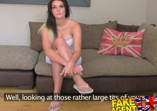 FakeAgentUK: Creampie cast be incumbent on a london doll more top-drawer tits