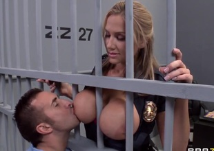 Alanah Rae horny as fuck distance from this husky prisoner