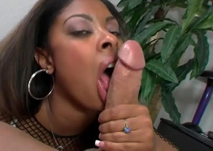 Cute deadly girl takes care of a big cock together with enjoys it in many positions.