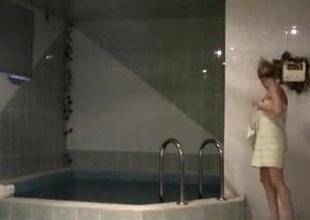 Hidden camera records pair having sex there baths