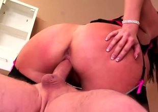 Fat loot milf in a underwear set fucked from behind